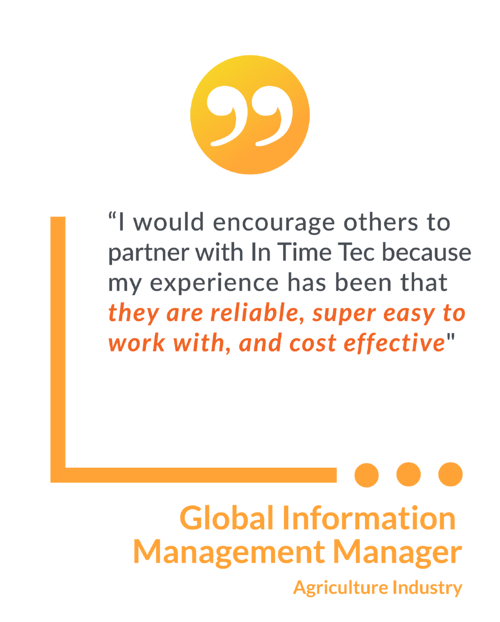 Agriculture industry testimonial graphic