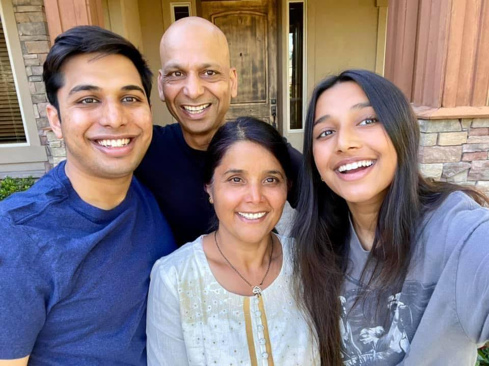 A picture of Jeet with his family