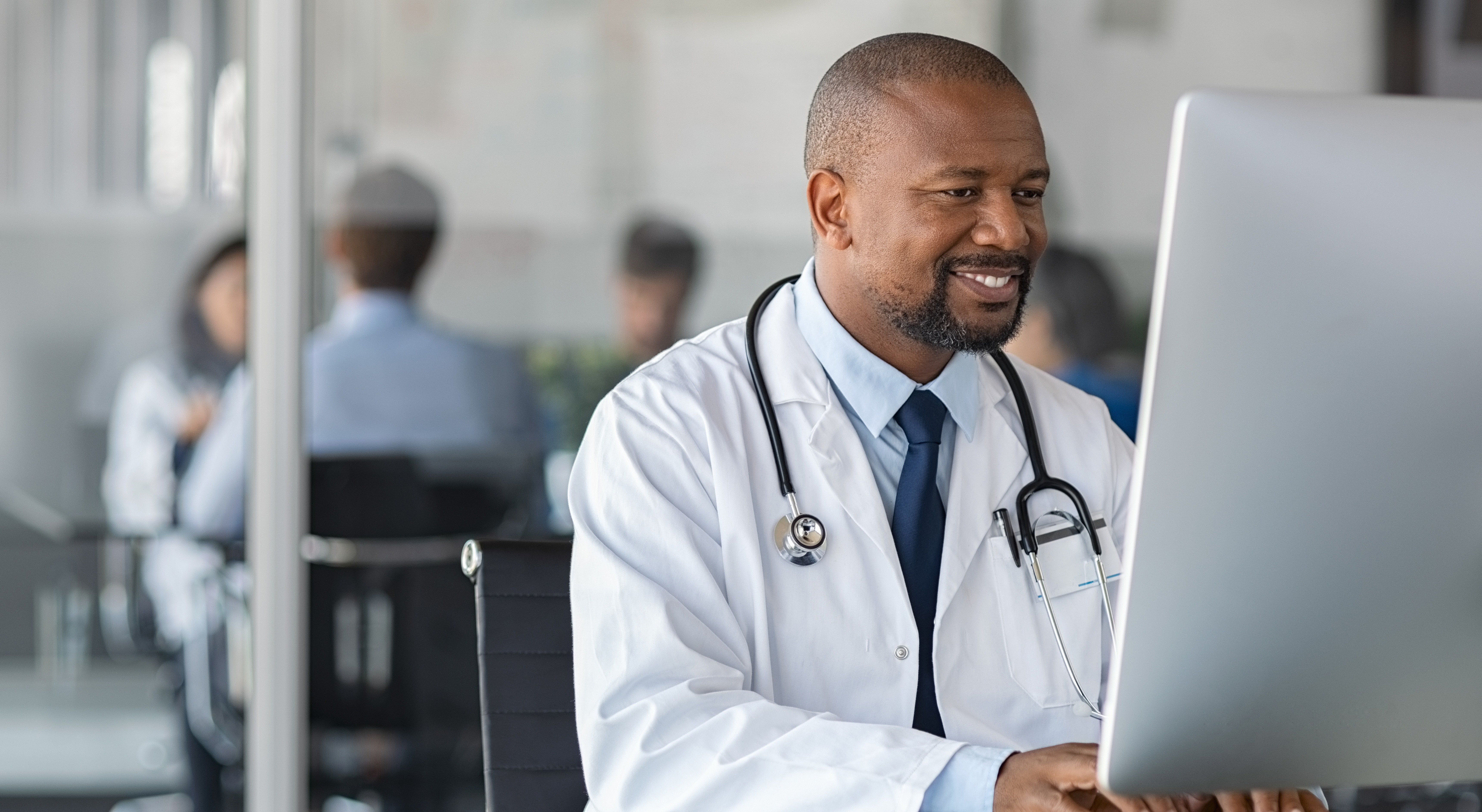 Healthcare professional working